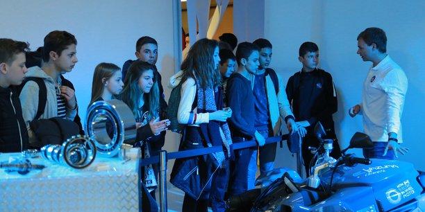 Des collégiens en visite sur le salon industriel Smile, en mars dernier.
