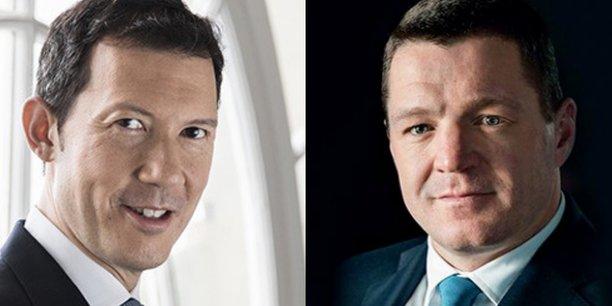 Ben Smith, le directeur général d'Air France-KLM et Pieter Elbers, président du directoire de KLM.