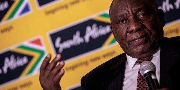 Le chef d'État sud-africain Cyril Ramaphosa