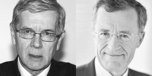 Philippe Varin, président de France Industrie et Philippe Darmayan, vice-président.