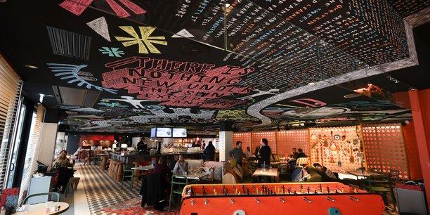 Le restaurant-bar situé au niveau 0 doit apporter la majorité du chiffre d'affaires de l'établissement.