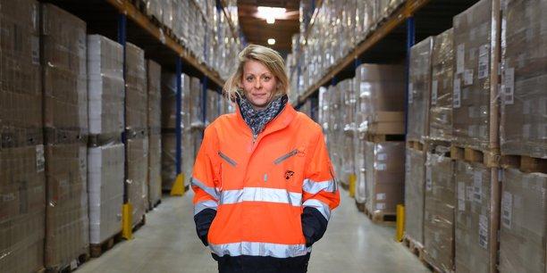 Jessica Loisel, manageure de la plateforme de GT Logistics pour Poult.