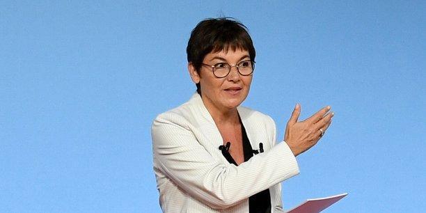 Annick Girardin, la ministre des Outre-mer, le 28 juin dernier aux Assises des Outre-Mer, à l'Elysée.