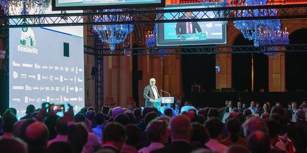 Philippe Monloubou, Président du Directoire d'Enedis, lors du couronnement du Concours Start-up Enedis 2018