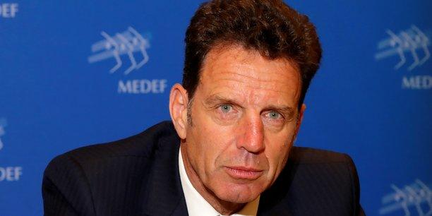 Le président du Medef Geoffroy Roux de Bézieux.