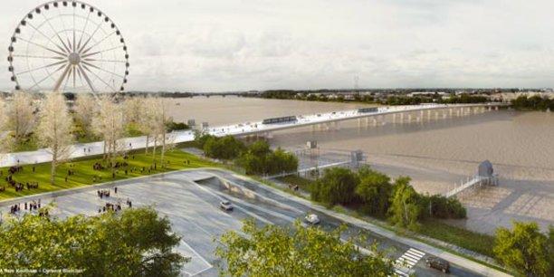 Le pont Simone Veil, entre Bègles et Floirac, ne verra pas le jour avant 2023. Un nouvel appel d'offres sera lancé début 2019 pour la poursuite du chantier.