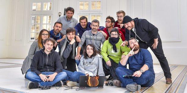 Les équipes de Motion Twin (Dead Cells) et de Shiro Games (Northgard) qui ont signé les deux gros succès bordelais de l'année 2018.
