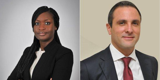 Adja Samb, nouveau CEO d'Allianz Sénégal et Xavier Laurent, nommé responsable régional de la gestion des marchés.