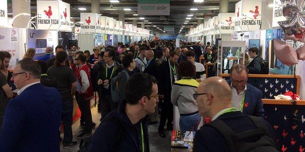 Les stands de la délégation Nouvelle-Aquitaine n'ont pas désempli durant tout le premier jour du CES Las Vegas