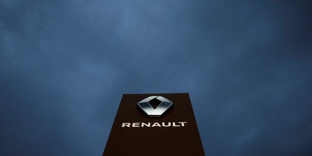 Renault, logo, borne, Ghosn, totem, marque, arrestation, constructeur automobile, Japon, Nissan,[reuters.com]