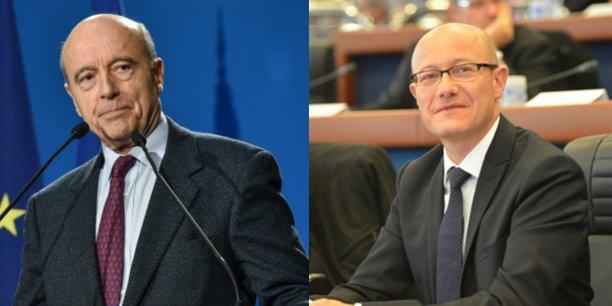 Alain Juppé, président de Bordeaux Métropole, et Jean-Luc Gleyze, président du Conseil départemental de la Gironde
