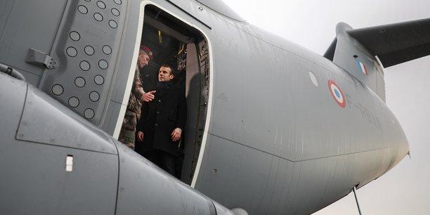 Pendant quelques heures, le chef de l'État était présent sur la base de Francazal.