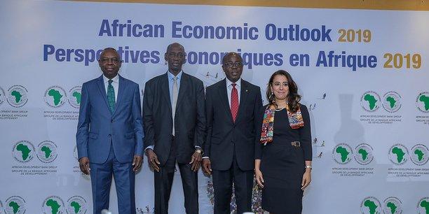 Lors de la présentation de l'édition 2019 des Perspectives économiques de la Banque africaine de développement, le jeudi 17 janvier 2019 au siège de la Banque à Abidjan.