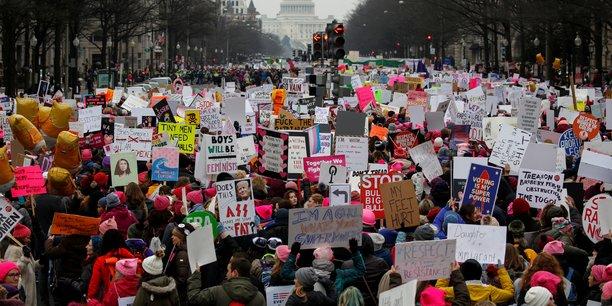 Les femmes manifestent contre trump pour la troisieme annee consecutive[reuters.com]