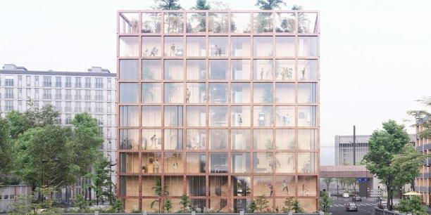 Le projet de Woodeum porte de Brancion-Vanves lauréat du premier concours Inventons la métropole du Grand Paris.
