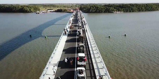 Pont sénégambien, entré en service le 22 janvier 2019.