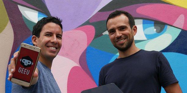 Hakim Baka et Florian Blanc, dirigeants de Geev