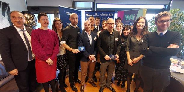 Le jury et les lauréats de l'étape marseillaise du prix 10.000 startups pour changer le monde.