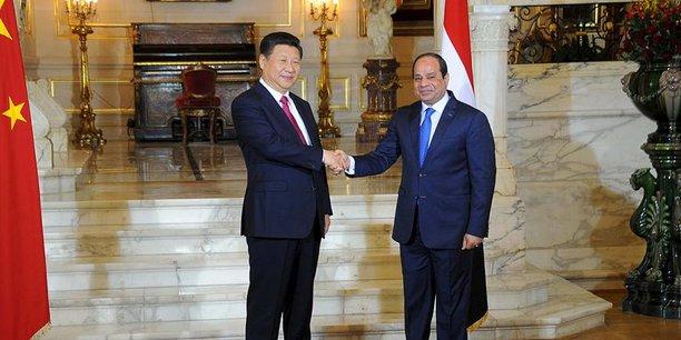 Le président chinois Xi Jinping a rencontré au Caire son homologue égyptien Abdel Fattah al-Sissi en 2016.