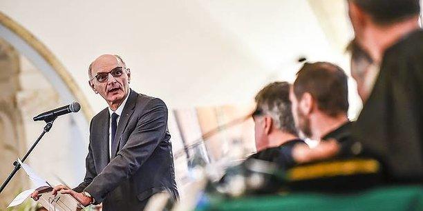 Didier Migaud lors de l'audience solennelle de la CRC de Nouvelle-Aquitaine ce vendredi 25 janvier.