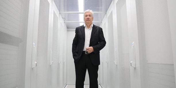 Pierre Maggioni, directeur général du MiPih, au coeur du data-center toulousain.