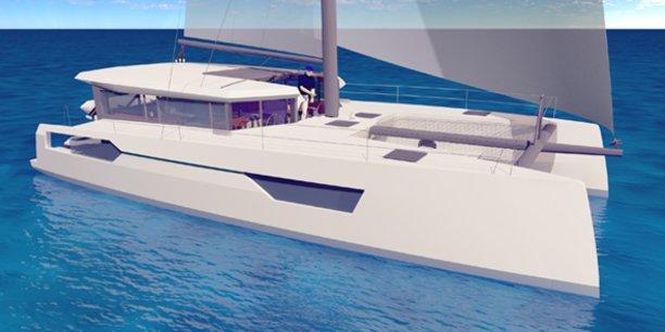 Visuel 3D d'un des bateaux éco-responsables imaginés par Windelo