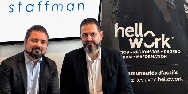 Bastien Vialade et Joël Alaux, cofondateurs de Staffman.