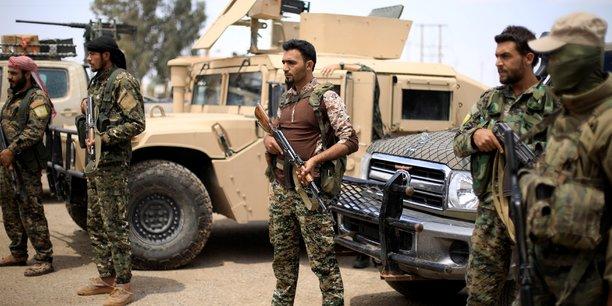 Les combattants des Forces démocratiques syriennes (FDS) livre leur dernière bataille contre l'EI en Syrie. Ici à Deir Ezzor, le 1er mai 2018.