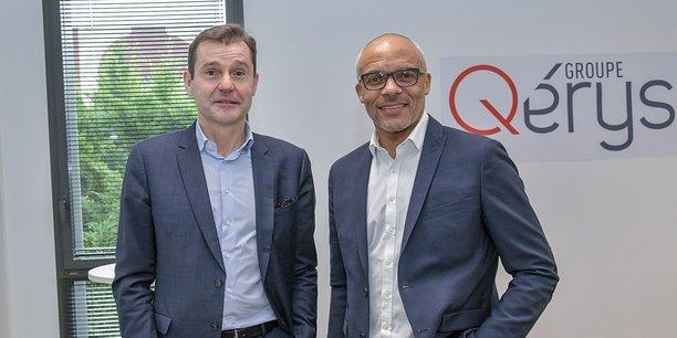 Jérôme Tesseire et Marc Hippomène, respectivement président et directeur général du groupe Qérys