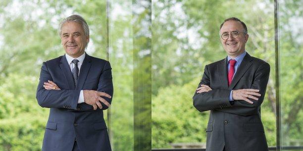 Philippe Rondot et Francis Stéphan, respectivement président et directeur général du bailleur social Domofrance, filiale d'Action logement.