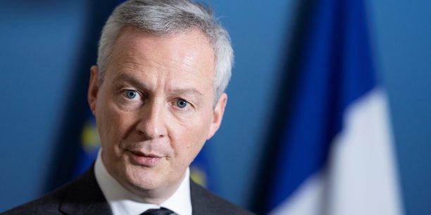 Le ministre de l'Économie et des Finances Bruno Le Maire.