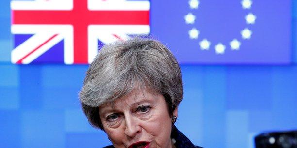La Première ministre britannique Theresa May .