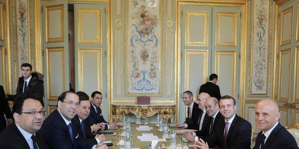 A paris, Youssef Chahed a été reçu par Emmanuel Macron, Edouard Philippe, Laurent Fabius ou encore Richard Ferrand, le président de l'Assemblée nationale.