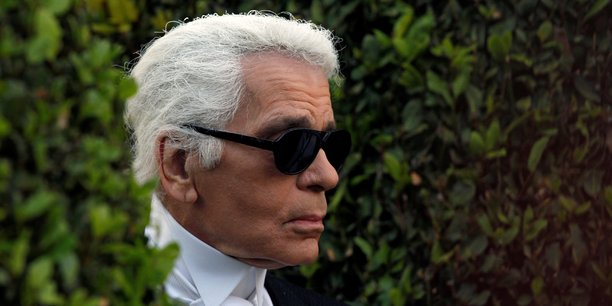 Le couturier Karl Lagerfeld.