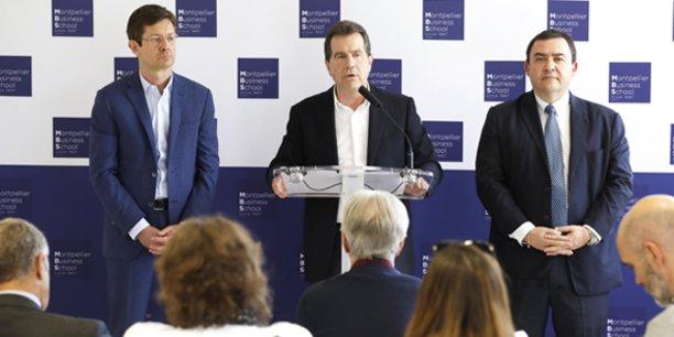 A. Deljarry (nouveau président de MBS), entouré de D. Seau (vice-présient) et S. Cerdan (trésorier)