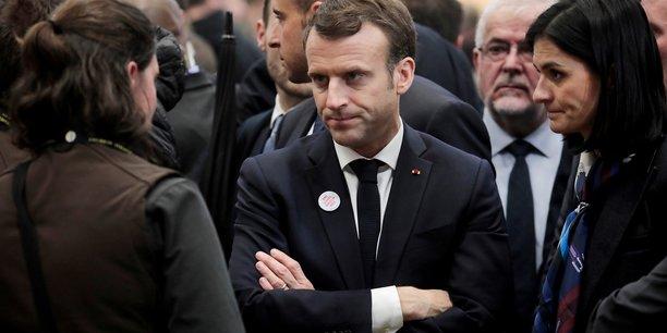 Emmanuel Macron en visite au Salon de l'Agriculture à Paris