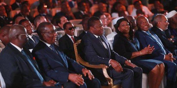 Le président togolais Faure Gnassingbé (3e à partir de la gauche), lundi 4 mars 2019, à la cérémonie officielle de lancement de la tournée du Programme national de développement (PND Tour).