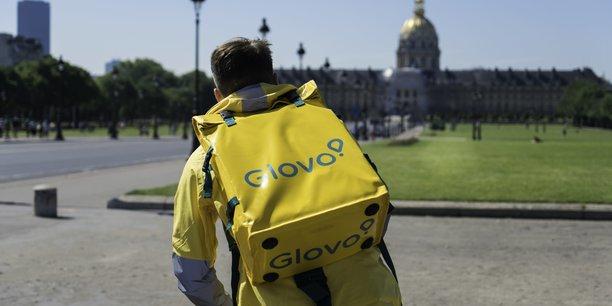 La startup espagnole Glovo, implantée en France depuis 2016, revendique dans l'Hexagone 1.500 coursiers actifs sur une semaine.