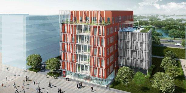 6ème Sens immobilier assure la construction du nouveau site administratif isérois de la Caisse d'Epargne Rhône-Alpes, sur la Zac Bouchayer Viallet, à Grenoble.