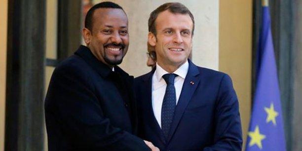 A Addis Abeba, le président Macron aura un entretien avec le Premier ministre Abiy Ahmed qu'il a déjà reçu à l'Elysée en octobre dernier.