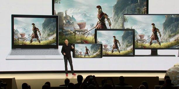 Phil Harrison, vice-président de Google, dévoilait Stadia à la GDC 2019, en Californie.