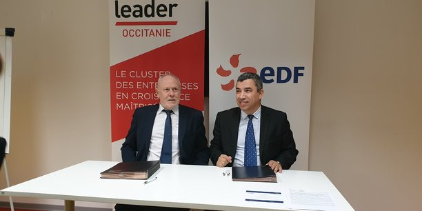 Gilles Capy (EDF) et Jalil Benabdillah (LeadeR Occitanie)