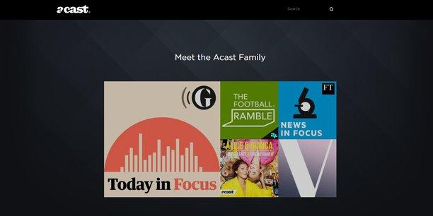 Lancée en 2014 en Suède, la plateforme de podcasts Acast revendique 170 millions d'écoutes mensuelles - dont 25% sont enregistrées aux Etats-Unis.