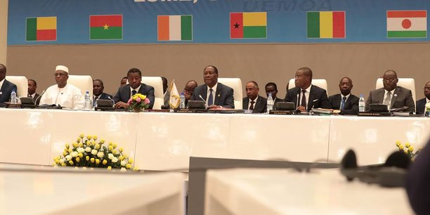 Lors de la 20e session ordinaire de la conférence des chefs d'Etat et de gouvernement de l'Union économique et monétaire ouest-africaine (UEMOA, tenue le 30 juillet 2018 à Lomé sous l'égide du président ivoirien Alassane Ouattara.