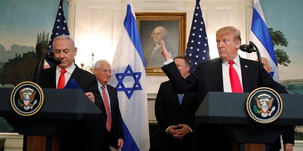 Trump reconnait la souverainete d'israel sur le plateau du golan[reuters.com]