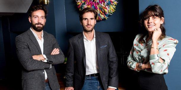 Les trois fondateurs d'Anaxago : François Carbone, Joachim Dupont et Caroline Lamaud.