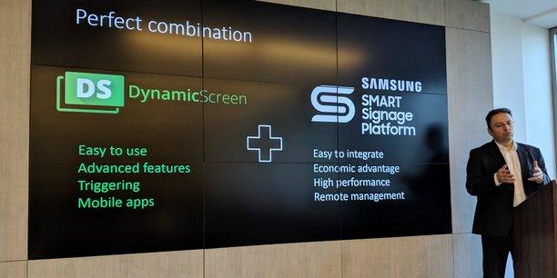 La technologie de DynamicScreen va être embarquée dans les écrans  conçus par Samsung permettant l'affichage dynamique de contenus