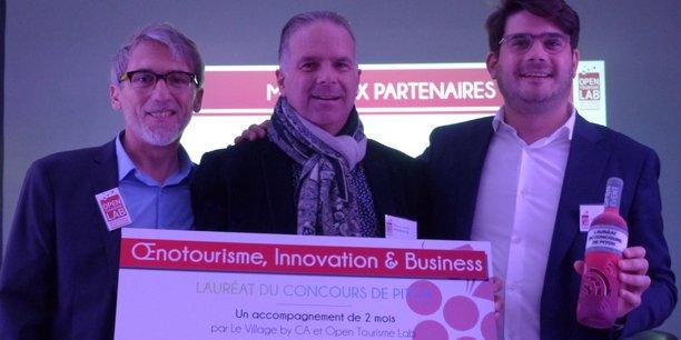 Emmanuel Bobin (Open Tourisme Lab), Olivier Chalon (Village by CA Montpellier) et Arthur Dupuy
