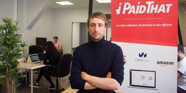 Sébastien Claeys, co-fondateur et Pdg de la startup Ipaidthat, qui a créé un logiciel pour automatiser la comptabilité des PME/TPE.