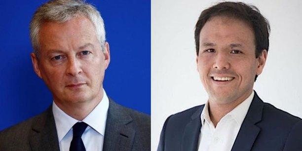 Le ministre de l'Economie et des Finances, Bruno Le Maire, et le secrétaire d'Etat au Numérique, Cédric O.